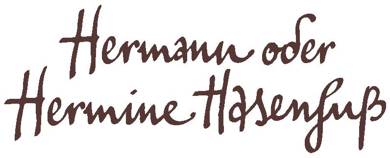 Hermann oder Hermine Hasenfuß - Vollmilchschokolade